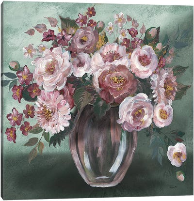Romantic Moody Florals Canvas Art Print