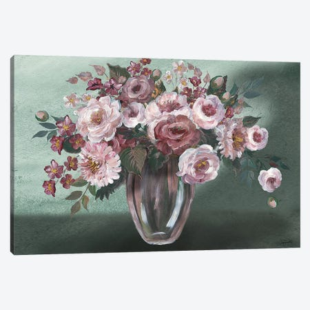 Romantic Moody Florals Landscape Canvas Print #TSS174} by Tre Sorelle Studios Canvas Wall Art