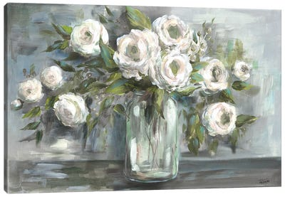 Soft Blooms Still Life Canvas Art Print