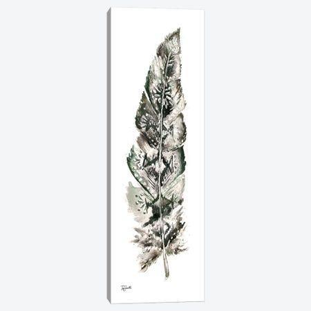 Tribal Feather Neutral Panel I Canvas Print #TSS182} by Tre Sorelle Studios Canvas Wall Art