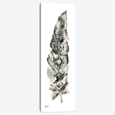 Tribal Feather Neutral Panel I Canvas Print #TSS182} by Tre Sorelle Studios Canvas Wall Art