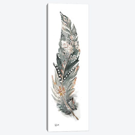 Tribal Feather Neutral Panel IV Canvas Print #TSS185} by Tre Sorelle Studios Canvas Print