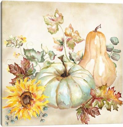 Watercolor Harvest Pumpkin II Canvas Art Print