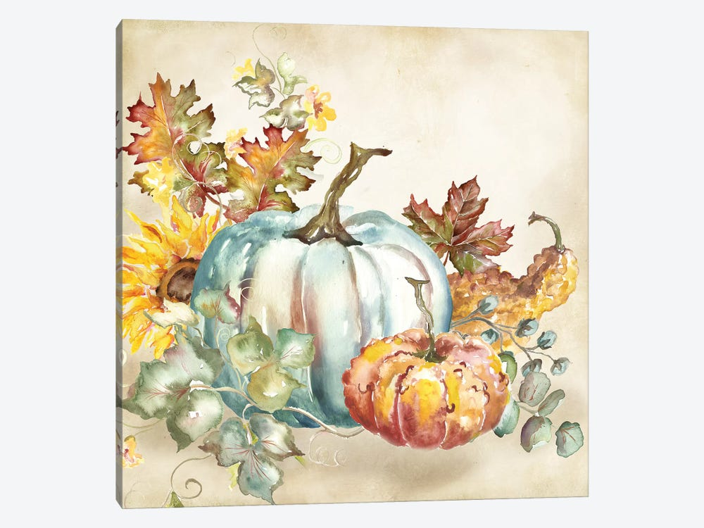 Watercolor Harvest Pumpkin III by Tre Sorelle Studios 1-piece Canvas Print