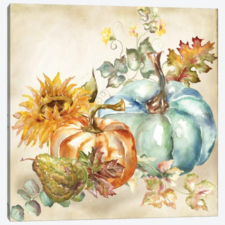 Watercolor Harvest Pumpkin IV Canvas Print #TSS191} by Tre Sorelle Studios Art Print