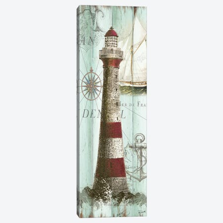 Antique La Mer Lighthouse Panel I Canvas Print #TSS193} by Tre Sorelle Studios Art Print