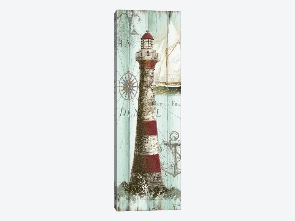 Antique La Mer Lighthouse Panel I by Tre Sorelle Studios 1-piece Canvas Wall Art