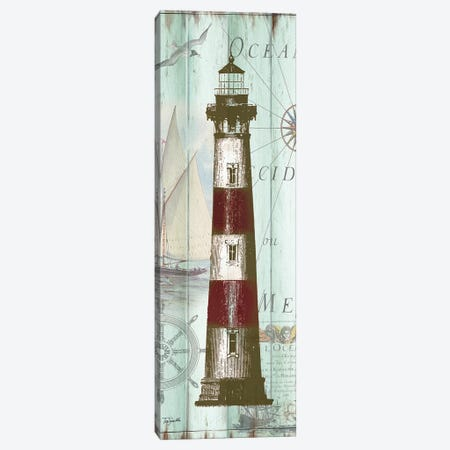 Antique La Mer Lighthouse Panel II Canvas Print #TSS194} by Tre Sorelle Studios Canvas Wall Art
