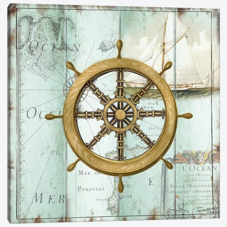 Antique La Mer VIII Canvas Print #TSS198} by Tre Sorelle Studios Art Print