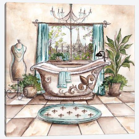 Paris Bath I Canvas Print #TSS225} by Tre Sorelle Studios Canvas Wall Art