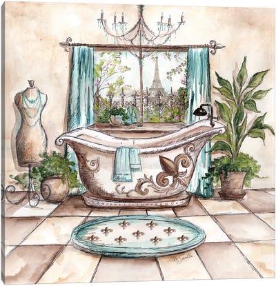 Paris Bath I Canvas Art Print
