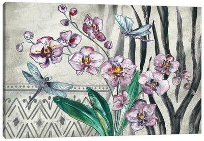 Boho Orchid landscape Canvas Art Print