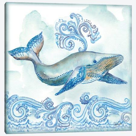 Boho Shells II-Whale Canvas Print #TSS248} by Tre Sorelle Studios Art Print