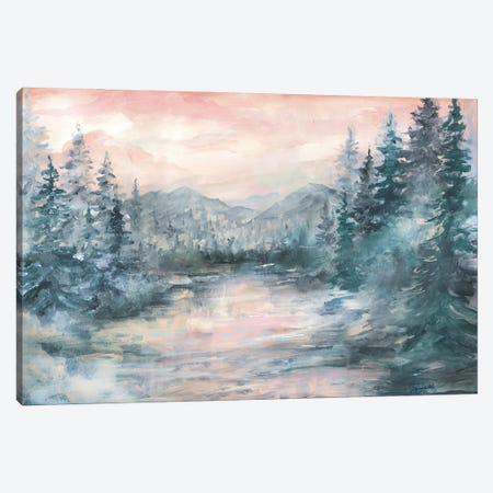 Morning Mist at Pine Lake Canvas Print #TSS250} by Tre Sorelle Studios Canvas Wall Art