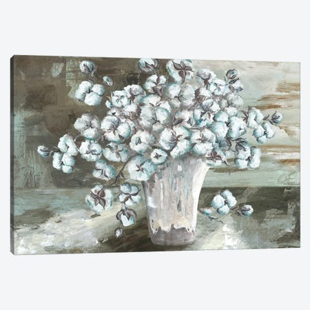 Farmhouse Cotton Bolls Still life Canvas Print #TSS32} by Tre Sorelle Studios Canvas Artwork