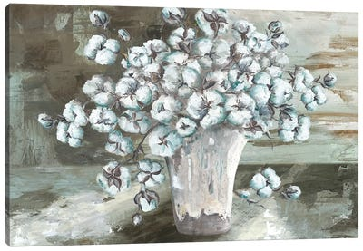 Farmhouse Cotton Bolls Still life Canvas Art Print