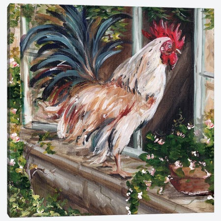 French Country Rooster Canvas Print #TSS34} by Tre Sorelle Studios Canvas Art Print