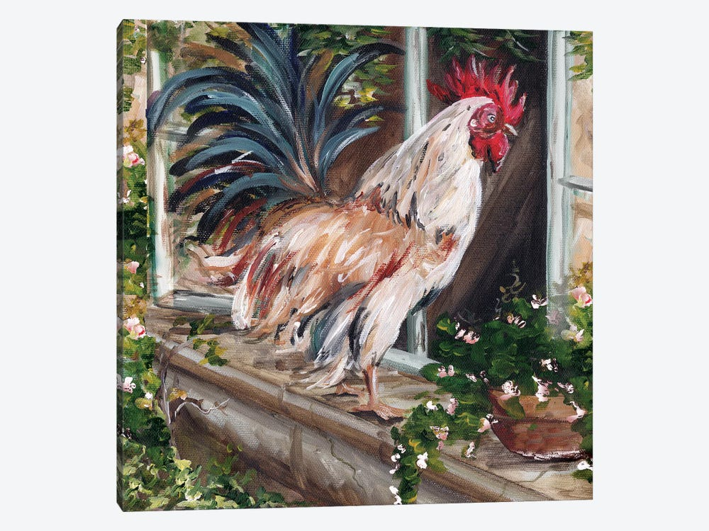 French Country Rooster 1-piece Canvas Art