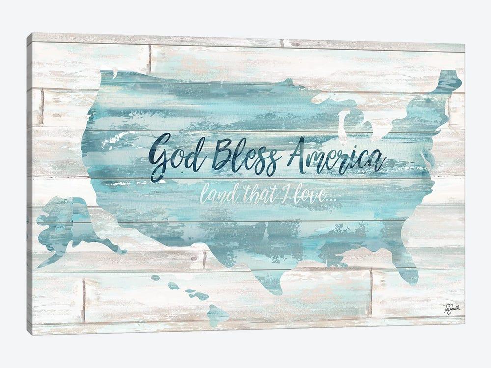 God Bless America USA Map by Tre Sorelle Studios 1-piece Canvas Artwork