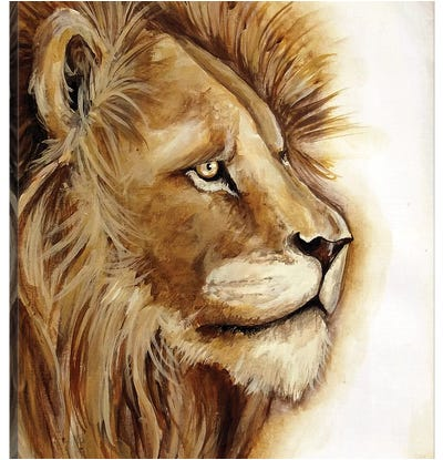Lion Portrait Canvas Art Print
