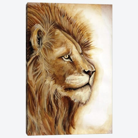 Lion Portrait Canvas Print #TSS45} by Tre Sorelle Studios Canvas Art