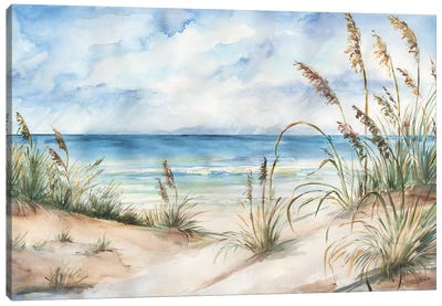 Seaview Landscape Canvas Art Print