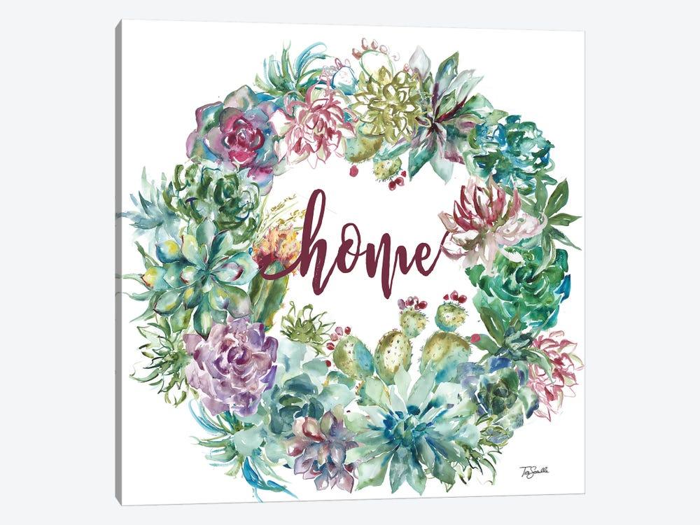Succulent Garden Wreath Home by Tre Sorelle Studios 1-piece Canvas Art Print