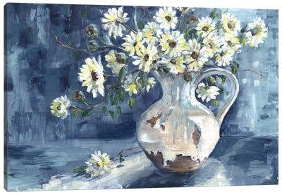 Sunshine & Daisies Landscape Canvas Art Print