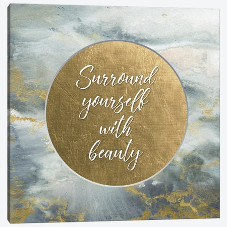 Surround Yourself With Beauty 3-Piece Canvas #TSS70} by Tre Sorelle Studios Canvas Artwork