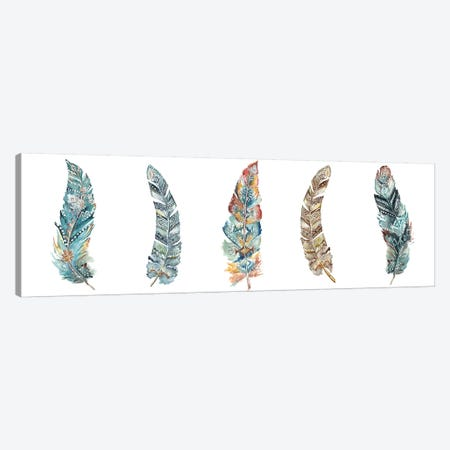Tribal Feathers Panel Canvas Print #TSS75} by Tre Sorelle Studios Art Print