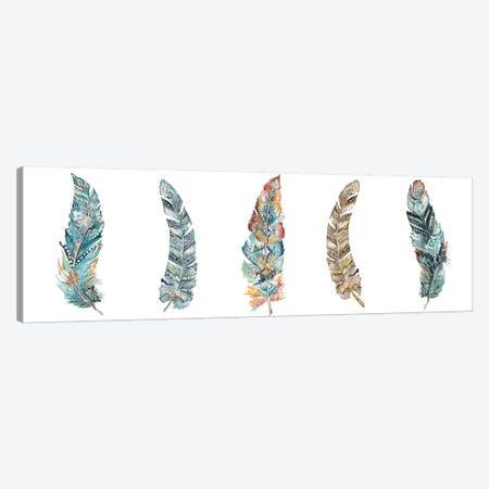 Tribal Feathers Panel Canvas Print #TSS75} by Tre Sorelle Studios Art Print