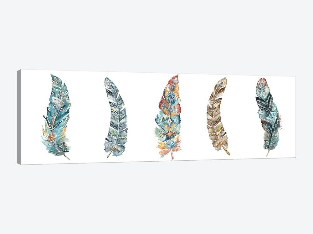 Tribal Feathers Panel by Tre Sorelle Studios 1-piece Canvas Art Print