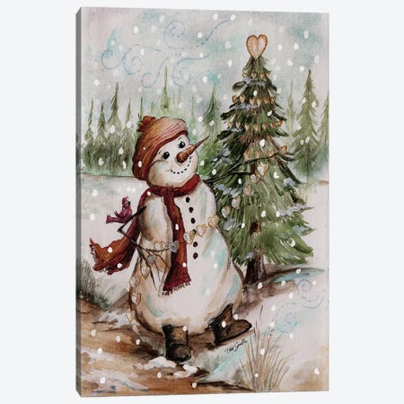 Country Snowman I Canvas Print #TSS98} by Tre Sorelle Studios Canvas Artwork