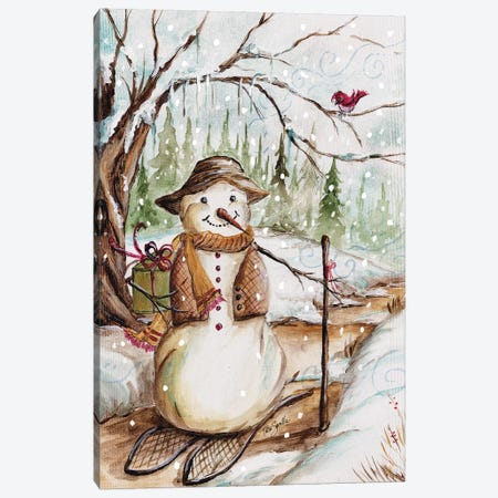 Country Snowman II Canvas Print #TSS99} by Tre Sorelle Studios Canvas Artwork