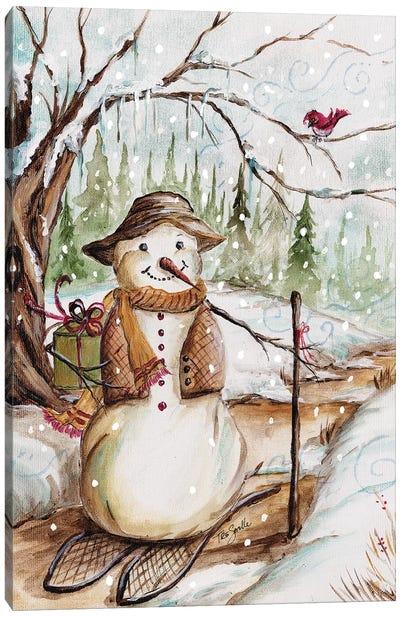 Country Snowman II Canvas Art Print