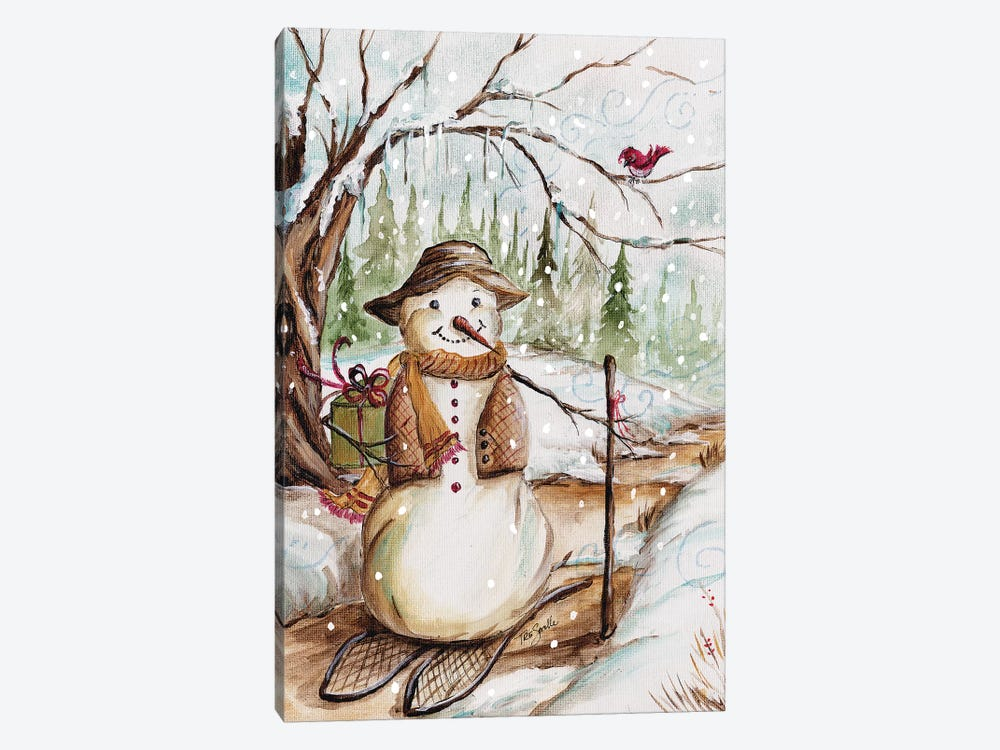 Country Snowman II by Tre Sorelle Studios 1-piece Canvas Print