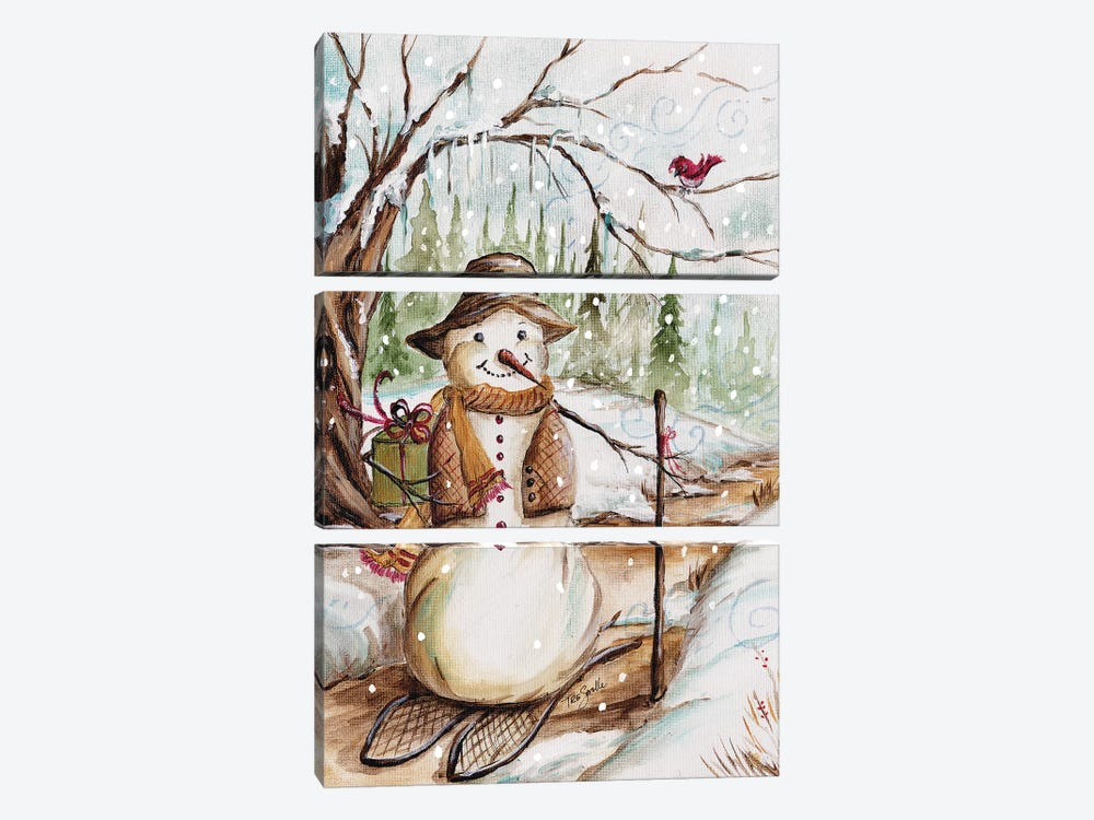 Country Snowman II by Tre Sorelle Studios 3-piece Canvas Art Print