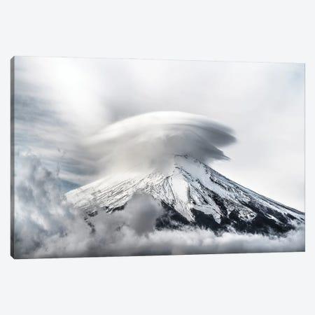 Umbrella Cloud Fuji Canvas Print #TSU12} by Takashi Suzuki Canvas Wall Art