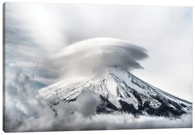 Umbrella Cloud Fuji Canvas Art Print