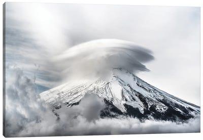 Umbrella Cloud Fuji Canvas Art Print