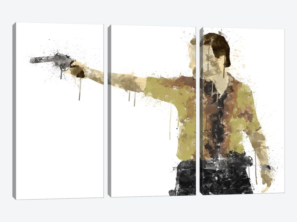 Taking Aim by 5by5collective 3-piece Canvas Print