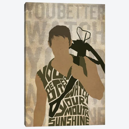 You Better Watch Your Mouth Sunshine Canvas Print #TUD12} by 5by5collective Art Print