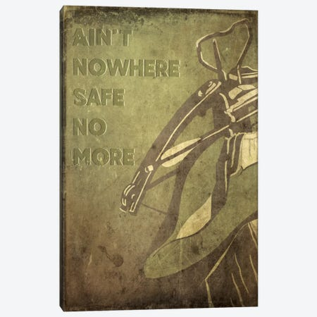 Ain't Nowhere Safe No More Canvas Print #TUD1} by 5by5collective Canvas Artwork
