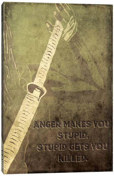 Anger Makes You Stupid Canvas Art Print