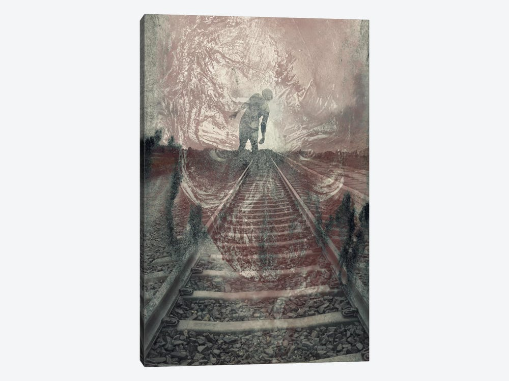 Dead On The Tracks by 5by5collective 1-piece Canvas Wall Art