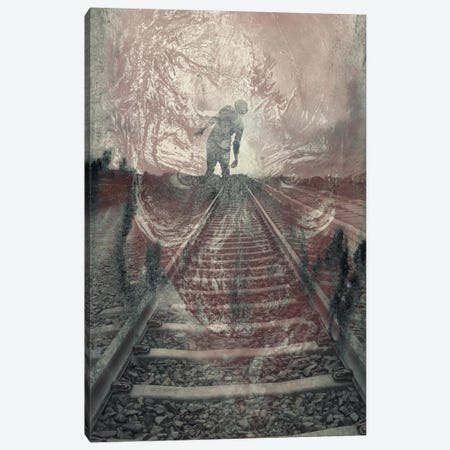 Dead On The Tracks Canvas Print #TUD4} by 5by5collective Art Print