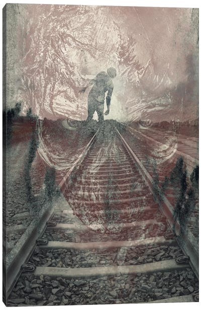 Dead On The Tracks Canvas Art Print