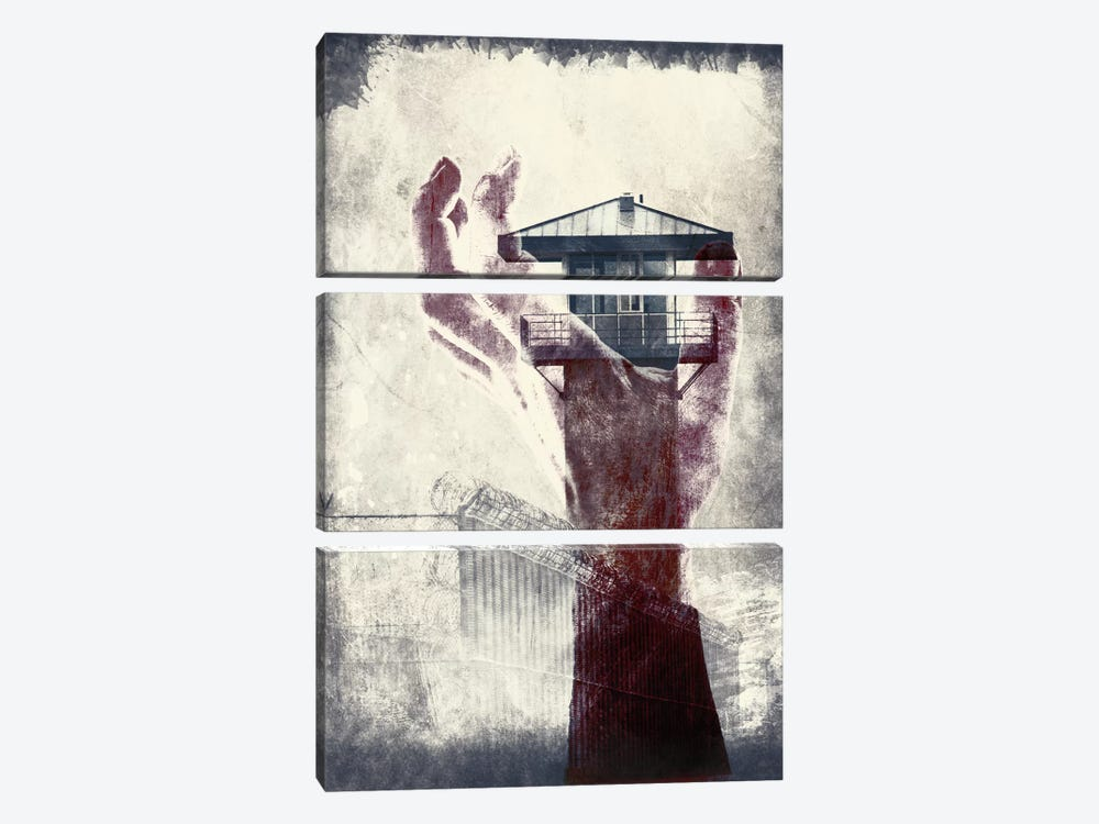 Deadly Trap 3-piece Canvas Print
