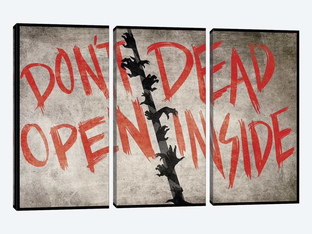 Don't Open Dead Inside by 5by5collective 3-piece Canvas Wall Art