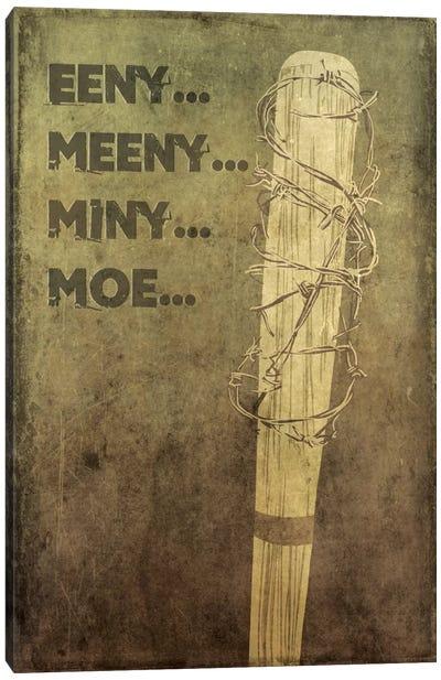 Eeny Meeny Miny Moe Canvas Art Print